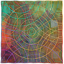 Circles #28 by Michele Hardy (Fiber Wall Hanging)