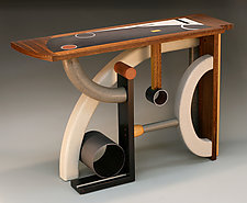 Table of Chaos and Confusion by Derek Secor Davis (Wood Console Table)