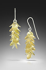 Bi-Metal Petal Earrings by Jennifer Chin (Gold & Silver Earrings)