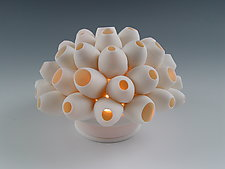 Barnacles Coral Tea Light by Lilach Lotan (Ceramic Candleholder)