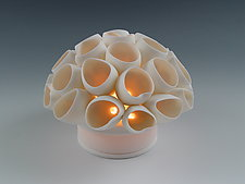 Funnels Coral Tea Light by Lilach Lotan (Ceramic Candleholder)