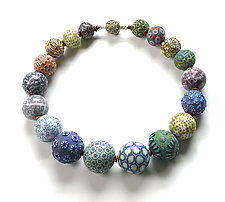 Big Bead Necklace #158 by David Forlano and Steve Ford (Polymer Clay Necklace)