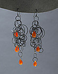 Silver Tangle Earrings by Heather Guidero (Silver & Stone Earrings)