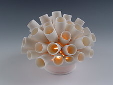 Tubes Coral Tea Light by Lilach Lotan (Ceramic Candleholder)