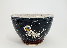 Astronaut Dog Cereal Bowl by Ian Buchbinder (Ceramic Bowl)