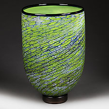 Emerald Echo Studio Sample by Eric Bladholm (Art Glass Vase)