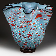 Litni Yabluko (Summer Apples) Experimental Color Study by Eric Bladholm (Art Glass Bowl)