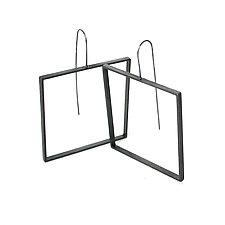 Square Slice Earrings by Emanuela Aureli (Brass Earrings)