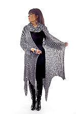 Ombre Mesh Hankerchief Point Sweater Coat & Mobius Infinity Scarf by Robin Bergman  (Sweater Coat)
