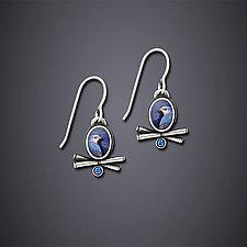 Island Blue Earrings by Dawn Estrin (Silver Earrings)