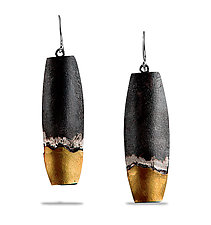 Midnight on the Water Earrings by Lori Gottlieb (Gold & Silver Earrings)