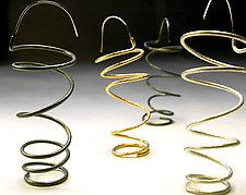 Dangling Coil Earrings by Emanuela Aureli (Metal Earrings)