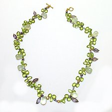 Garden of Gemstones Green Delight by Kathleen Lynagh (Gold & Stone Necklace)