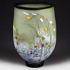 Summer Sage Flat-sided Vase (Experimental Sample) by Eric Bladholm (Art Glass Vase)