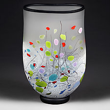 Modern Medley Flat-sided Vase (Experimental Sample) by Eric Bladholm (Art Glass Vase)
