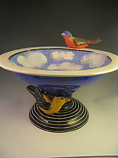 Two Birds in the Sky Bowl by Lisa Scroggins (Ceramic Sculpture)