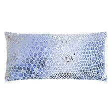 Snakeskin Velvet Long Lumbar Pillow by Kevin O'Brien (Velvet Pillow)