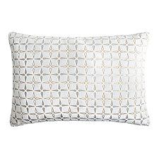 Metallic Petal Flower Velvet Lumbar Pillow by Kevin O'Brien (Velvet Pillow)