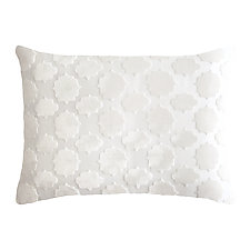 Mod Fretwork Velvet Lumbar Pillow by Kevin O'Brien (Silk Velvet Pillow)