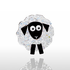 Sheepish by Denise Childs (Art Glass Ornament)