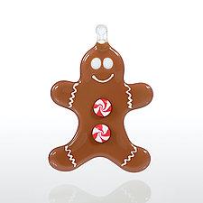 Gingerbread Fellow by Glassworks Northwest (Art Glass Ornament)
