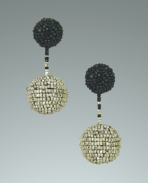 Black and Silver Mod Earrings