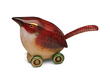 Carolina Wren by Dona Dalton (Wood Sculpture)