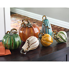 Prosperity Pumpkins by Leonoff Art Glass  (Art Glass Sculpture)