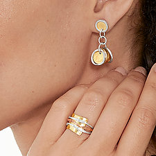 Harmony Earrings by Sana  Doumet (Gold & Silver Earrings)