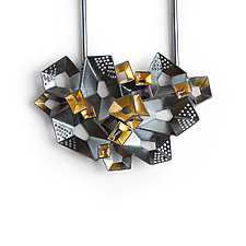 Window with a View Necklace by Sophia Hu (Gold & Silver Necklace)