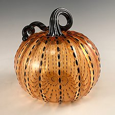 Spooky Pumpkin by Leonoff Art Glass  (Art Glass Sculpture)