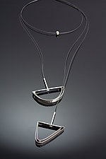 Tension Lariat by Laura Hutchcroft (Silver Necklace)