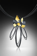 Peony Pendant by Judith Neugebauer (Gold, Silver & Pearl Necklace)