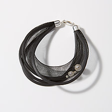 Textures and Pearls Bracelet by Dagmara Costello (Pearl & Nylon Bracelet)