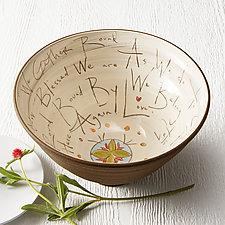 Gather Bowl by Noelle VanHendrick and Eric Hendrick (Ceramic Bowl)