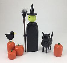 Halloween Set by Hilary Pfeifer (Wood Sculpture)