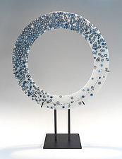 Ring of Steel by Lisa Becker (Art Glass Sculpture)