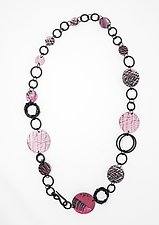 Pink Power Necklace I by Kathleen Nowak Tucci (Polymer & Rubber Necklace)