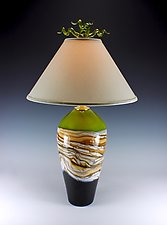 Strata Table Lamp by Danielle Blade and Stephen Gartner (Art Glass Table Lamp)