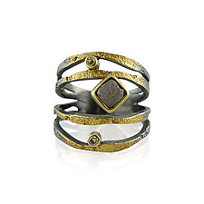 Alaria Ring by Jenny Reeves (Gold, Silver & Stone Ring)