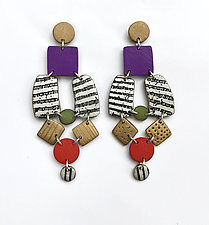 Spade Earrings by Louise Fischer Cozzi (Polymer Clay Earrings)