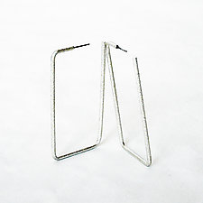 Rectangle Earrings by Emanuela Aureli (Metal Earrings)