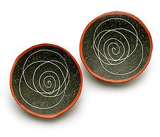 Crazy Spiral Earrings by Kathleen Dustin (Polymer Clay Earrings)