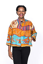 Cropped Jacket #14 by Mieko Mintz  (One Size (2-16), Cotton Jacket)