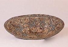 Elliptical Ocean Server by Valerie Seaberg (Ceramic Bowl)