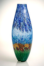 Garden Landscape Vase by Robert Dane (Art Glass Vase)