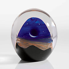 Sunrise Landscape by Robert Burch (Art Glass Paperweight)
