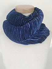 Ripple Loop Infinity Scarf by Jeannet Leendertse  (Silk Scarf)