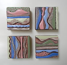 Day Trip by Regina Farrell (Ceramic Wall Sculpture)