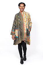 Kimono Long Jacket #3 by Mieko Mintz  (One Size (2-16), Cotton Jacket)